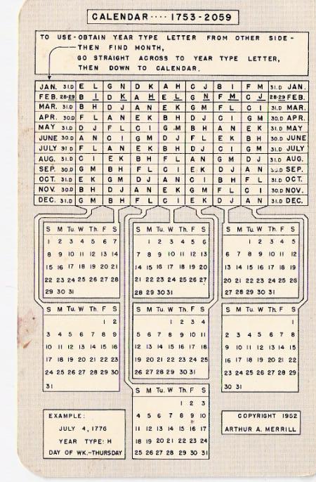 Perpetual Calendars : Adolphe sax perpetual calendar